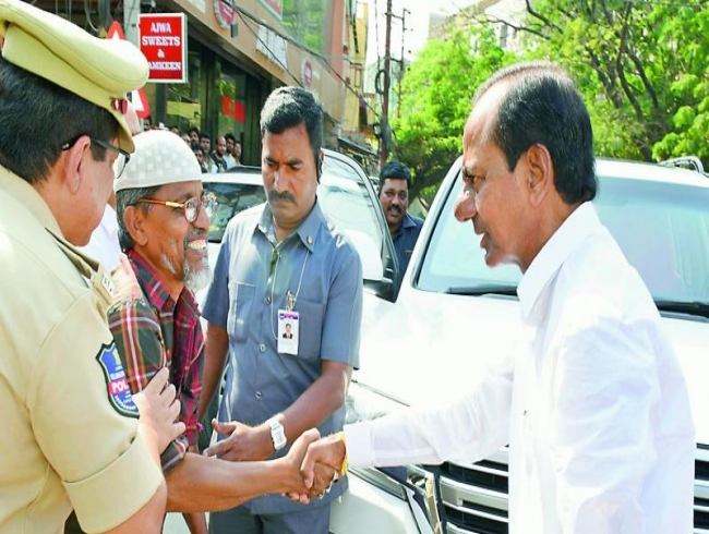 K Chandrasekhar Rao helps aged man get disability pension, 2BHK
