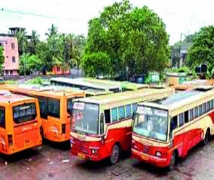 Tribals celebrate New Year with TSRTC staff