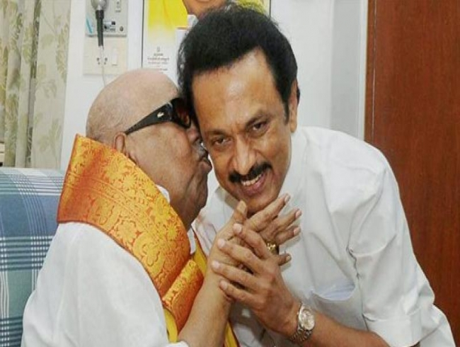 Shall I call you Appa once at least now? son Stalin pens poem for Karunanidhi