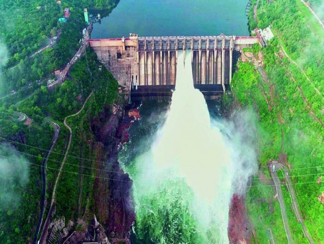 Two floodgates of Srisailam lifted