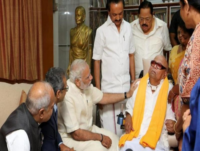 PM Narendra Modi mourns Karunanidhi's death; will be in Chennai tomorrow
