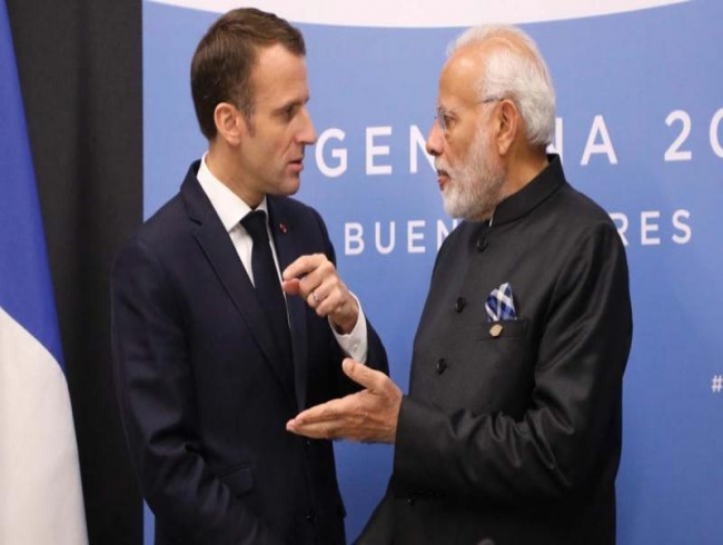 Amid Rafale delivery, France sends medical assistance to India; Macron writes to Modi