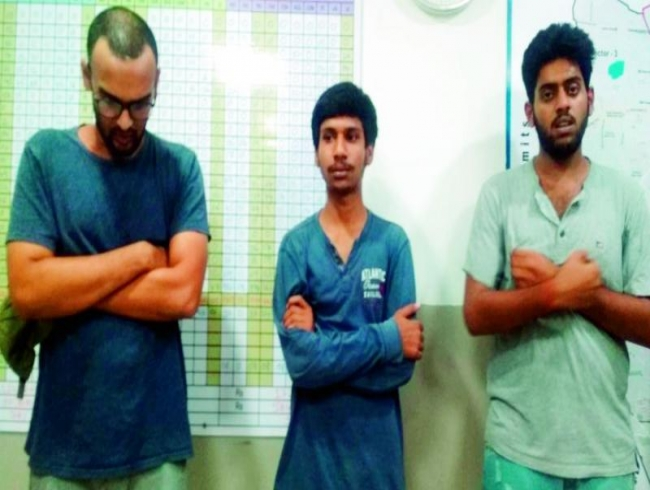 Three boys arrested for peddling ganja at Nizampet