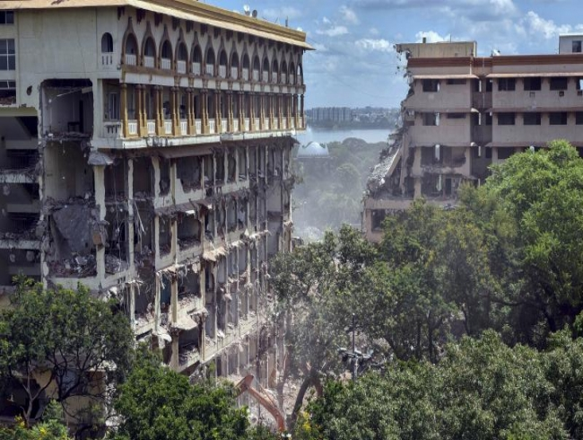 Telangana govt says 90pc work in Secretariat demolition completed