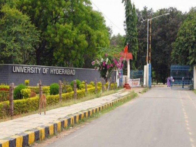 University of Hyderabad students blocked staff