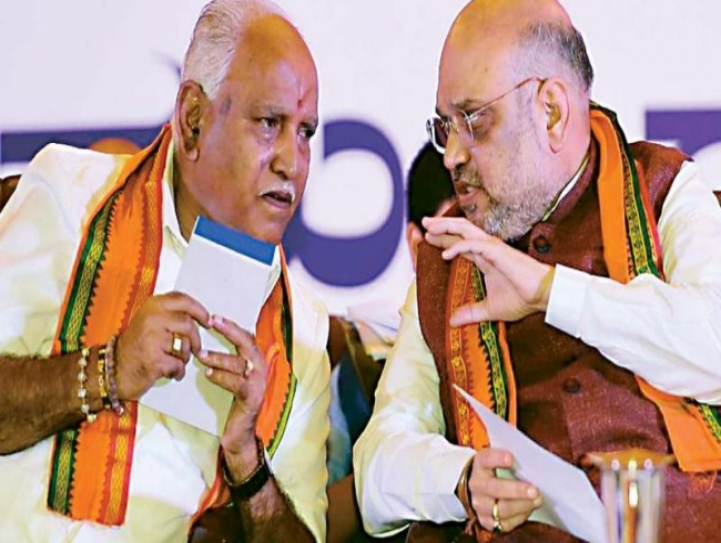Toppling H D Kumaraswamy: Amit Shah and B S Yeddyurappa hold talks