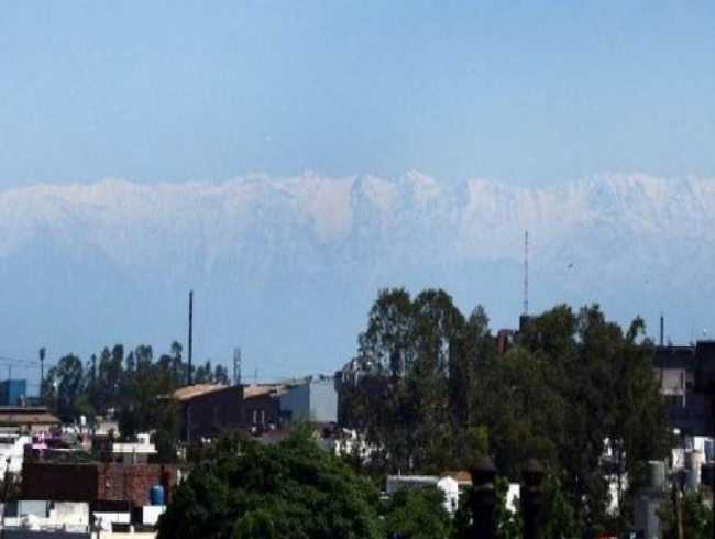 Jalandhar residents were left amazed as they get view of Himalayan range