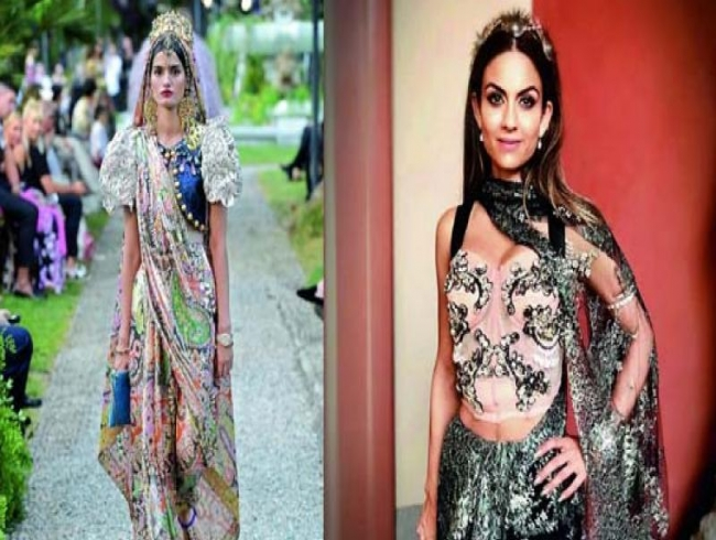 D&G embraces the desi saree