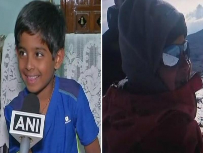 7-year-old Hyderabad boy scales peak of Mt. Kilimanjaro