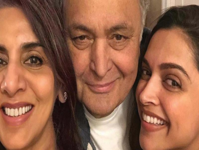 Deepika Padukone bonds with Rishi and Neetu