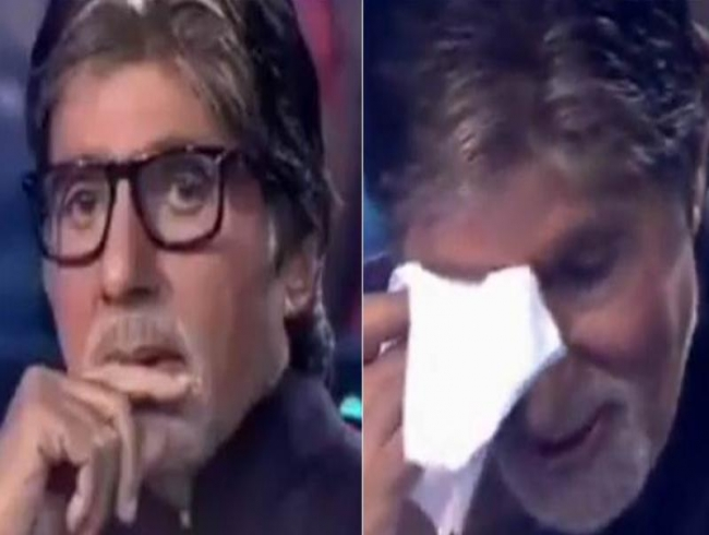 KBC: Big B gets emotional after watching birthday surprise video of his alma mater