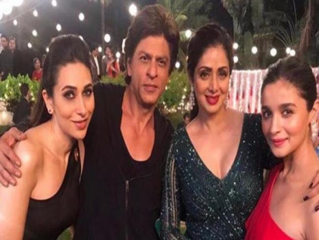 Jab SRK met Sridevi, Kajol, Rani, Alia and Karisma!
