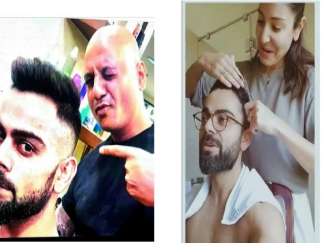Mixed reactions to Anushka turning Virat's hairstylist