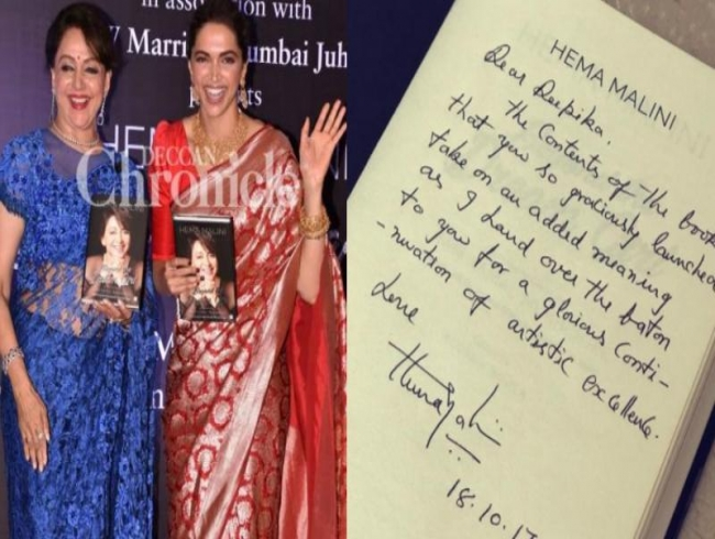 'I hand over the baton to you': Deepika shares endearing note from Hema Malini