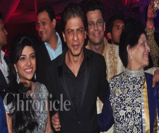 Shah Rukh, Hrithik and Madhuri attend Uday and Shirin's sangeet