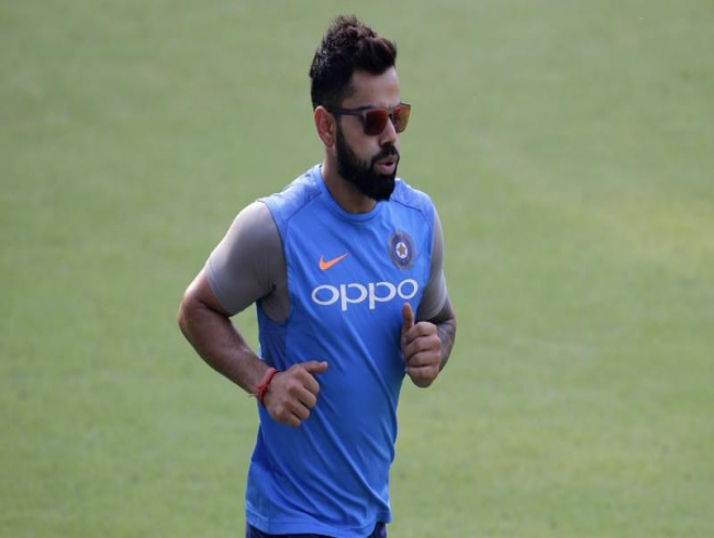 Caring Virat Kohli rushes in for help as ball hits TV crew member's forehead