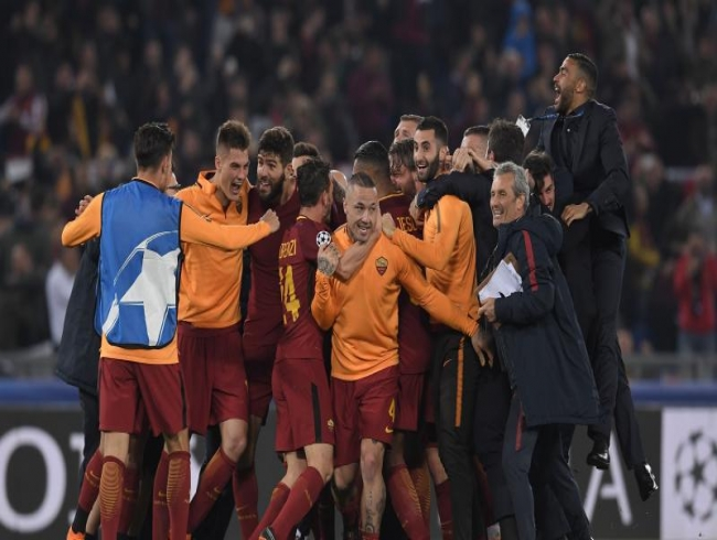 Champions League: Roma advance to semifinals after comeback win against Barcelona