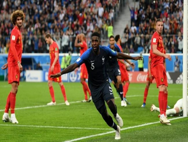 Samuel Umtiti heads France into World Cup final as Belgium fall short