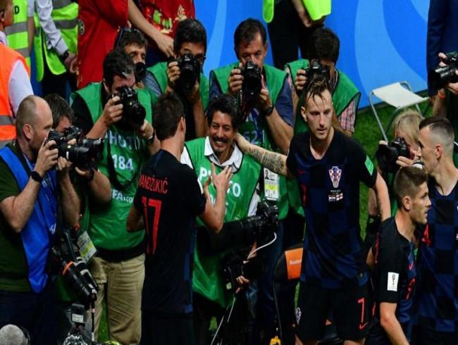FIFA World Cup 2018: Photographer becomes part of Croatia's goal celebrations; watch