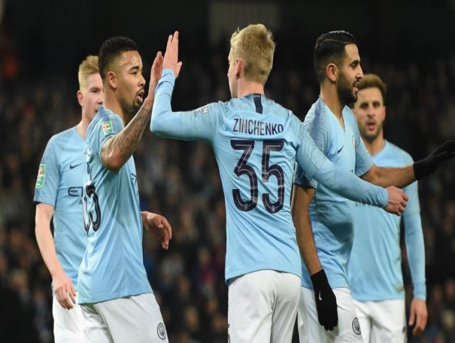 EFL Cup: Gabriel Jesus hits four as Manchester City crush Burton Albion 9-0 in semis