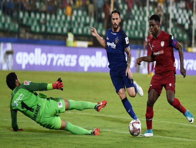 ISL 2018-19: Ogbeche nets hat-trick as NorthEast United beat Chennaiyin in thriller
