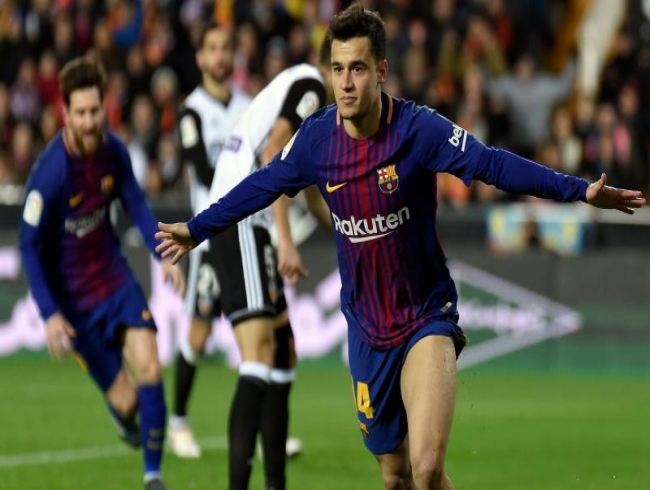 Philippe Coutinho's debut goal help Barcelona beat Valencia, enter Copa del Rey final