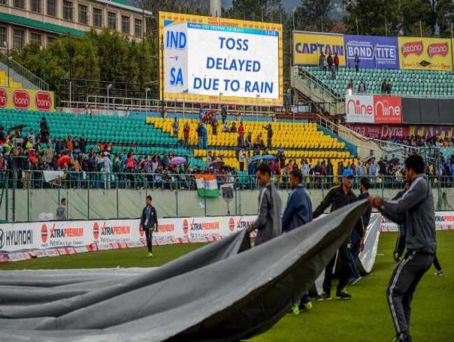 First India-South Africa ODI in Dharamsala washed out