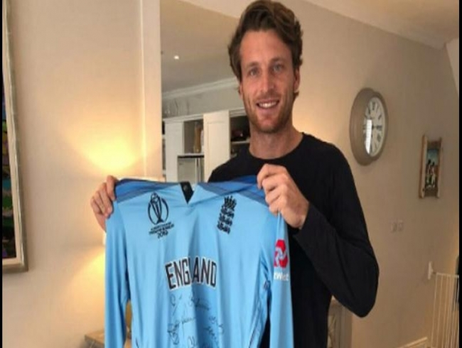 Jos Buttler's World Cup final shirt raises 65,000 pound for hospital appeal