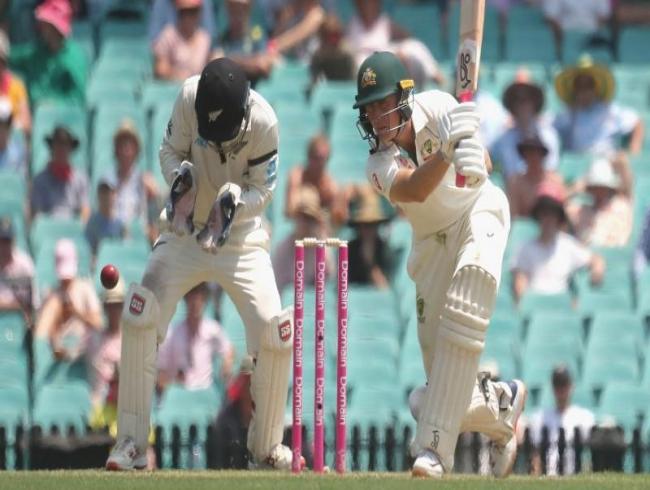 Labuschagne makes half century as Australia bat first in fire-threatened Test match