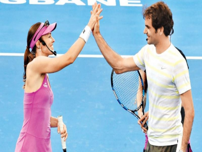 Roger Federer explains why he is 'not sad' after Martina Hingis announced retirement