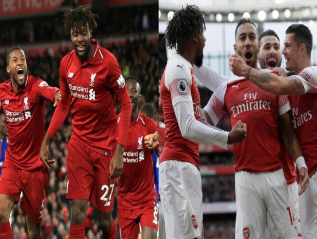 Liverpool stun Everton with freak goal as Arsenal overpower Spurs
