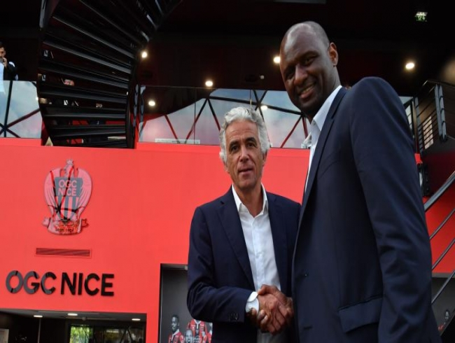 Former France and Arsenal great Patrick Vieira unvield as Nice coach