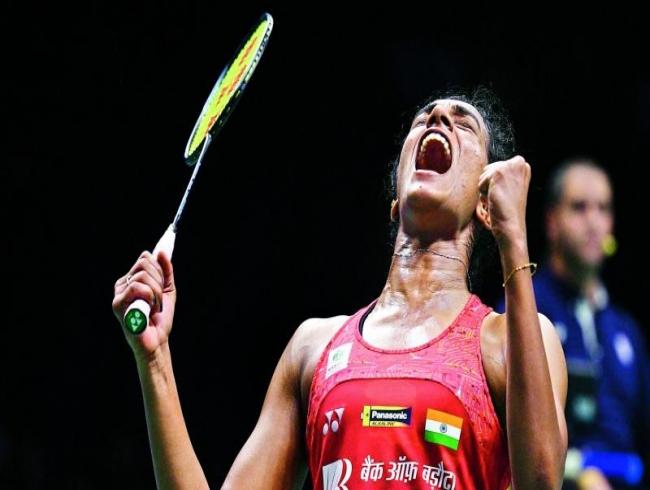 P V Sindhu in semifinals