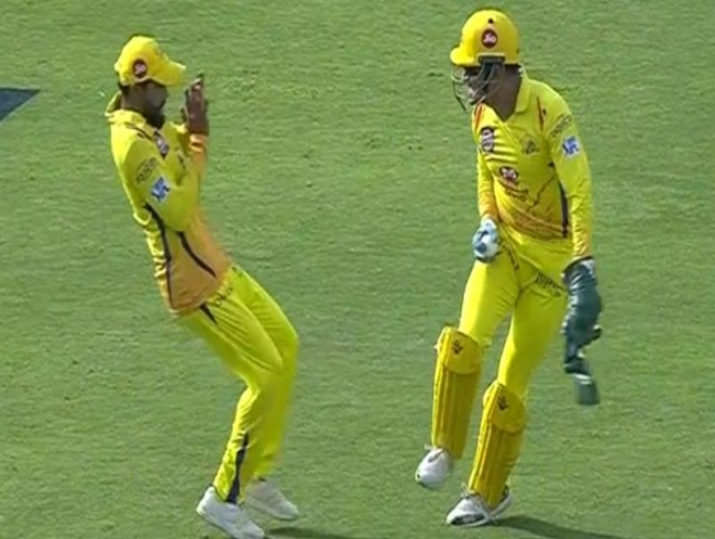Watch: MS Dhoni scares Ravindra Jadeja during CSK vs SRH game; here's what happened