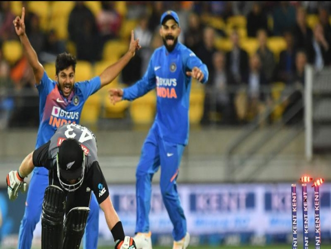 India beats NZ in super over twice, gains 4-0 series lead