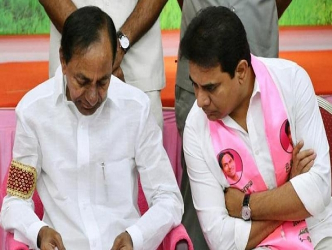 Covid-confined KCR, KTR managing civic polls virtually