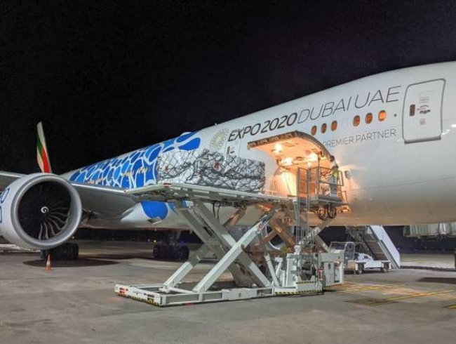 COVID-19 surge: Air bridge between Dubai, nine Indian cities to transport urgent relief items ready
