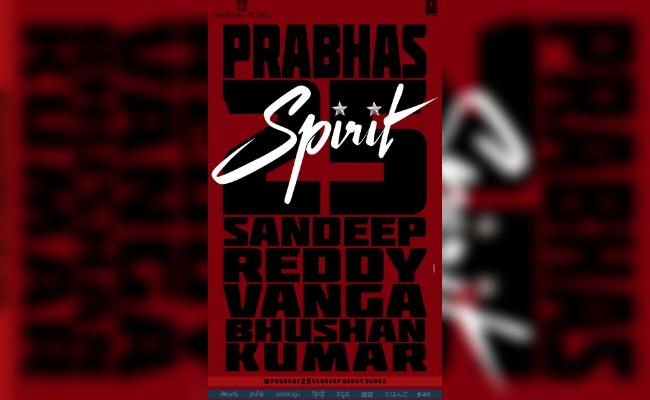Prabhas and Sandeep Vanga's 'Spirit' announced